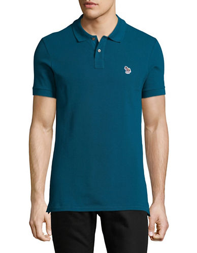 Ps By Paul Smith Zebra Slim-Fit Polo-TEAL-Small