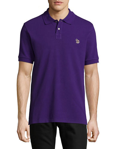 Ps By Paul Smith Zebra Slim-Fit Polo-PURPLE-X-Large