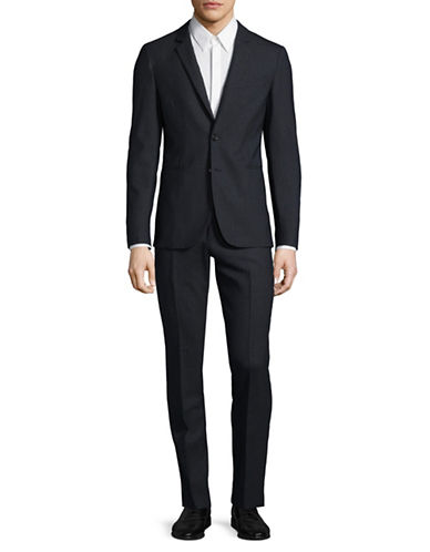 Ps By Paul Smith Slim-Fit Checkered Wool Suit-GREY-44