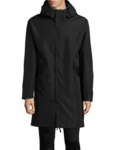 Ps By Paul Smith Hooded Parka-BLACK-Medium