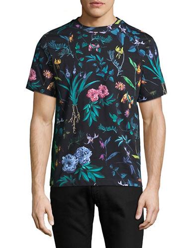 Ps By Paul Smith Floral Print T-Shirt-BLACK-Medium