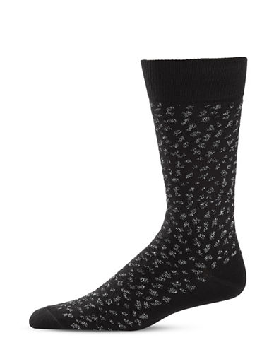 Paul Smith Animal Lurex Mid-Calf Socks-BLACK-One Size