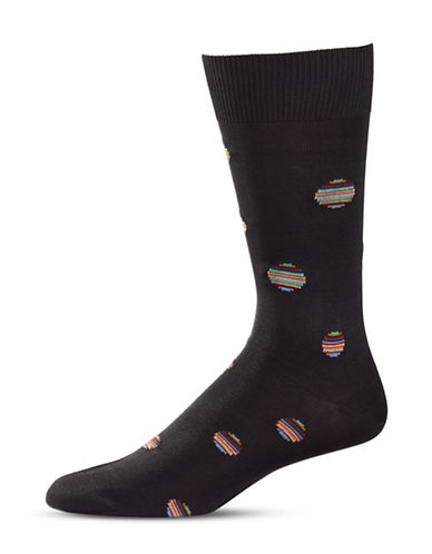 Paul Smith Polka Dot Mid-Calf Socks-GREY-One Size