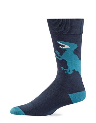 Paul Smith Dinosaur Socks-BLUE-One Size