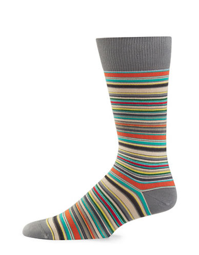 Paul Smith Multistripe Socks-GREY-One Size
