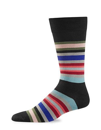 Paul Smith Mens Kew Stripe Socks-BLACK-One Size