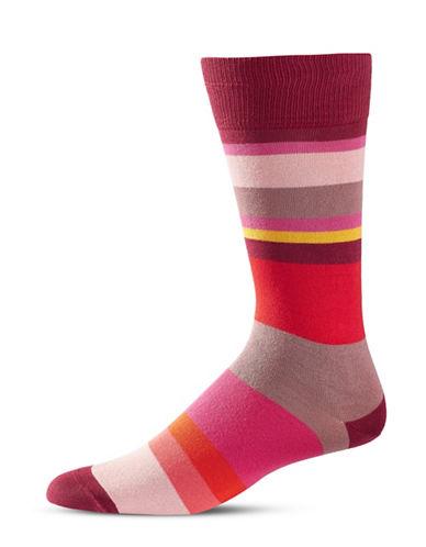 Paul Smith Mens Split-Stripe Socks-PINK-One Size