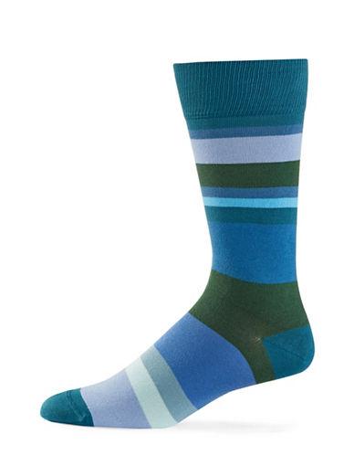 Paul Smith Mens Split-Stripe Socks-BLUE-One Size