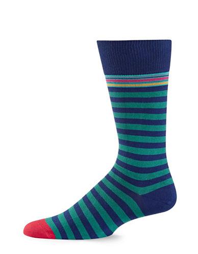Paul Smith Mens Two-Stripe Socks-NAVY-One Size