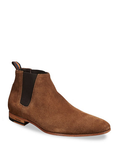 Paul Smith Marlowe Suede Chelsea Boots-BEIGE-8