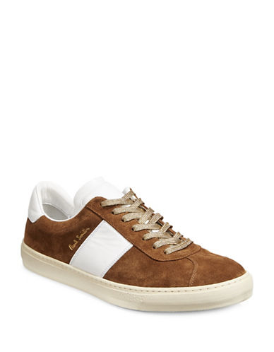 Paul Smith Levon Suede Sneakers with Metallic Laces-BEIGE-8