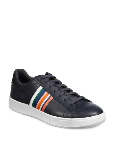 Ps By Paul Smith Lawn Striped Leather Sneakers-NAVY-9