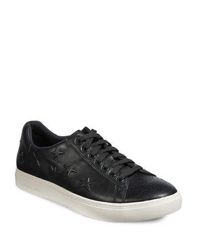 Ps By Paul Smith Draco Leather Star Sneakers-BLACK-11