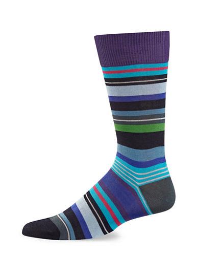 Paul Smith Mens Stripe Crew Socks-BLUE-One Size