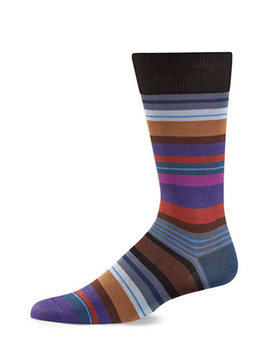 Paul Smith Mens Stripe Crew Socks-BLACK-One Size