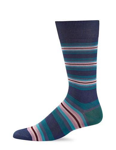 Paul Smith Mens Tiger Stripe Socks-BLUE-One Size