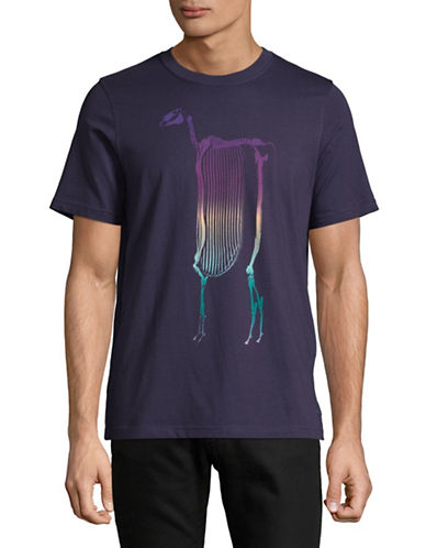 Ps By Paul Smith Skeleton Graphic T-Shirt-PURPLE-Medium