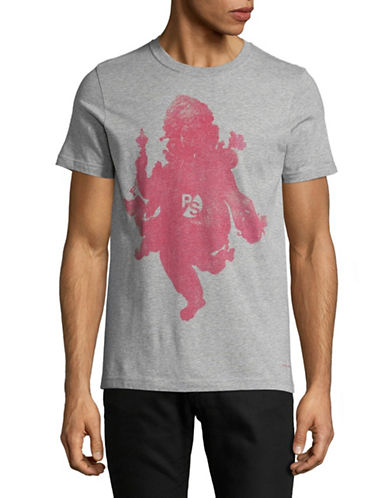 Ps By Paul Smith Ganesh Graphic T-Shirt-GREY-Medium