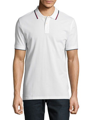 Ps By Paul Smith Contrast Trim Cotton Polo-WHITE-X-Large
