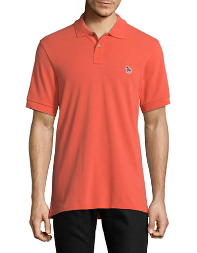 Ps By Paul Smith Contrast Trim Cotton Polo-ORANGE-Large