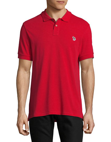 Ps By Paul Smith Short Sleeve Cotton Polo-RED-Small