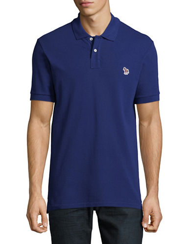 Ps By Paul Smith Short Sleeve Cotton Polo-DARK BLUE-Large