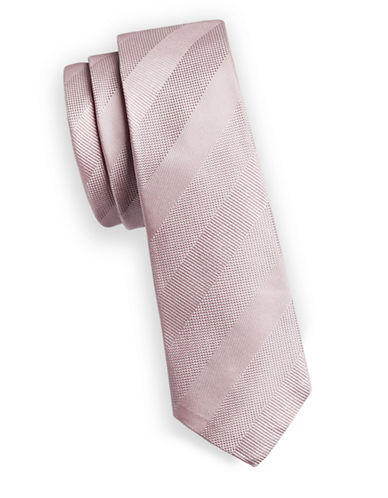 Paul Smith Shadow Stripe Silk Tie-PINK-One Size
