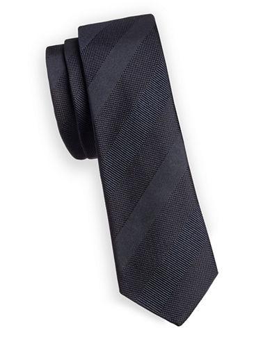 Paul Smith Shadow Stripe Silk Tie-BLUE-One Size