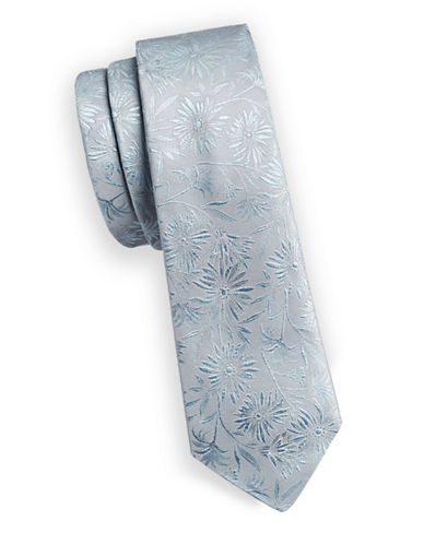 Paul Smith Floral Jacquard Slim Silk Tie-BLUE-One Size