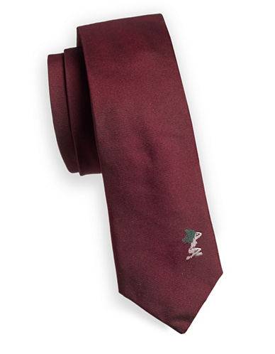 Paul Smith Textured Slim Silk Tie-RED-One Size