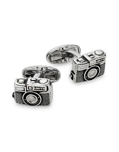 Paul Smith Silvertone Camera Cufflinks-BLACK-One Size