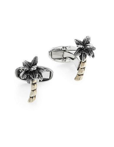 Paul Smith Palm Tree Cufflinks-SILVER-One Size