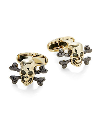 Paul Smith Skull and Crossbones Cufflinks-GOLD-One Size