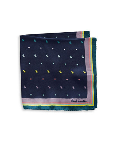 Paul Smith Valentines Silk Pocket Square-BLACK-One Size