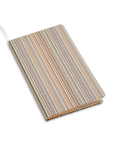 Paul Smith Medium Striped Notebook-MULTI-COLOURED-One Size