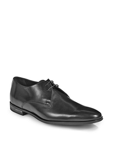 Paul Smith Coney Leather Dress Shoes-BLACK-9.5