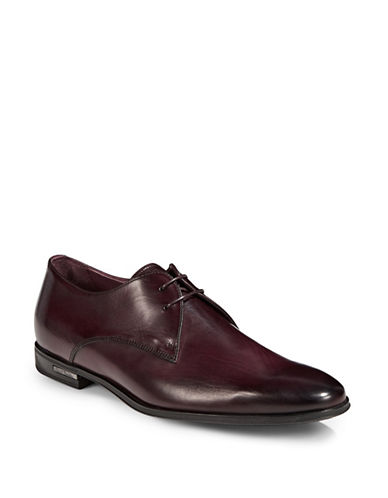 Paul Smith Coney Leather Dress Shoes-BURGUNDY RED-11.5