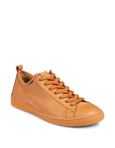 Paul Smith Miyata Leather Sneakers-ORANGE-10.5