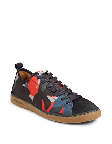 Paul Smith Miyata Camouflage Sneakers-RED-9.5