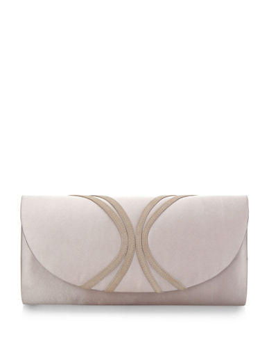 Jacques Vert Piped Clutch Bag-NEUTRAL-One Size