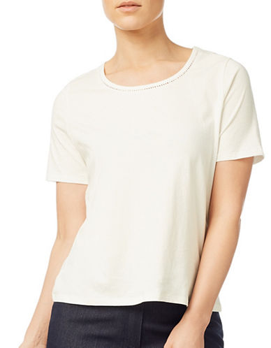 Eastex Cotton Jersey Top-IVORY-UK 16/US 14