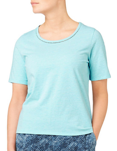 Eastex Trim Detail Jersey Tee-LIGHT BLUE-UK 12/US 10