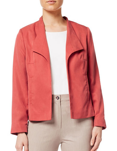 Eastex Open Front Solid Jacket-DARK RED-UK 20/US 18