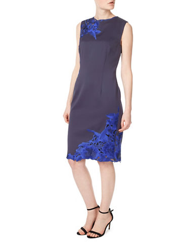 Precis Petite Sleeveless Lace Dress-NAVY-UK 18/US 16