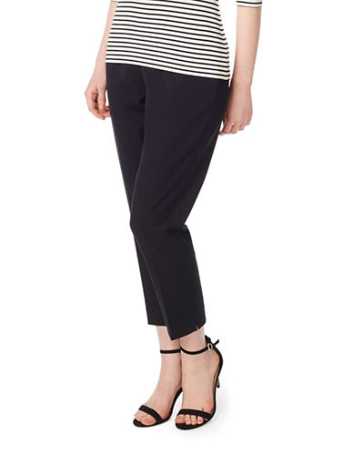 Precis Petite Twill Crop Trousers-BLACK-UK 6/US 4