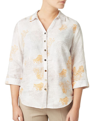 Eastex Coral Printed Blouse-CREAM MULTI-UK 14/US 12