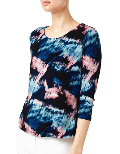 Eastex Sky Reflection Jersey Top-BLUE MULTI-UK 20/US 18