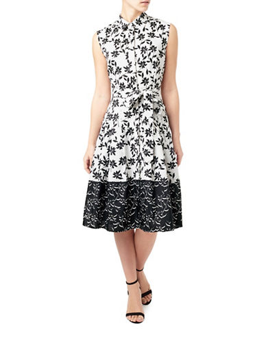Precis Petite Floral Print Shirt Dress-BLACK-UK 8/US 6