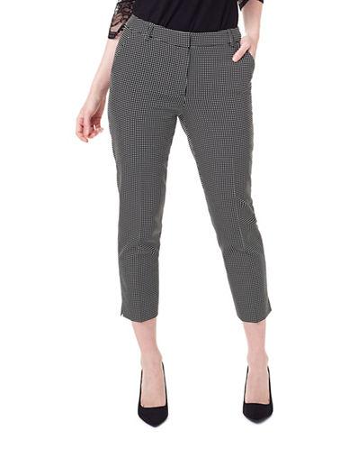 Precis Petite Vivienne Checkered Trousers-BLACK-UK 12/US 10