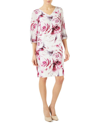 Jacques Vert Rose Printed Tunic-MULTI PINK-UK 8/US 6